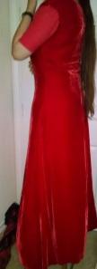 Velvet gown side in progress
